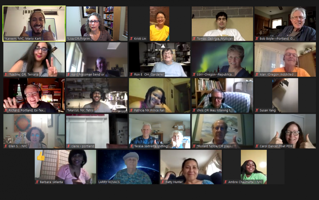CPL Participants: Zoom Meeting Gallery View
